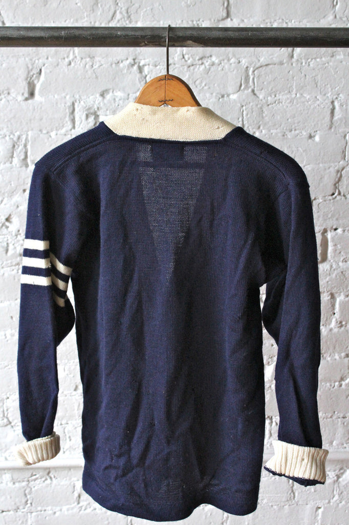 Navy & White Varsity Sweater