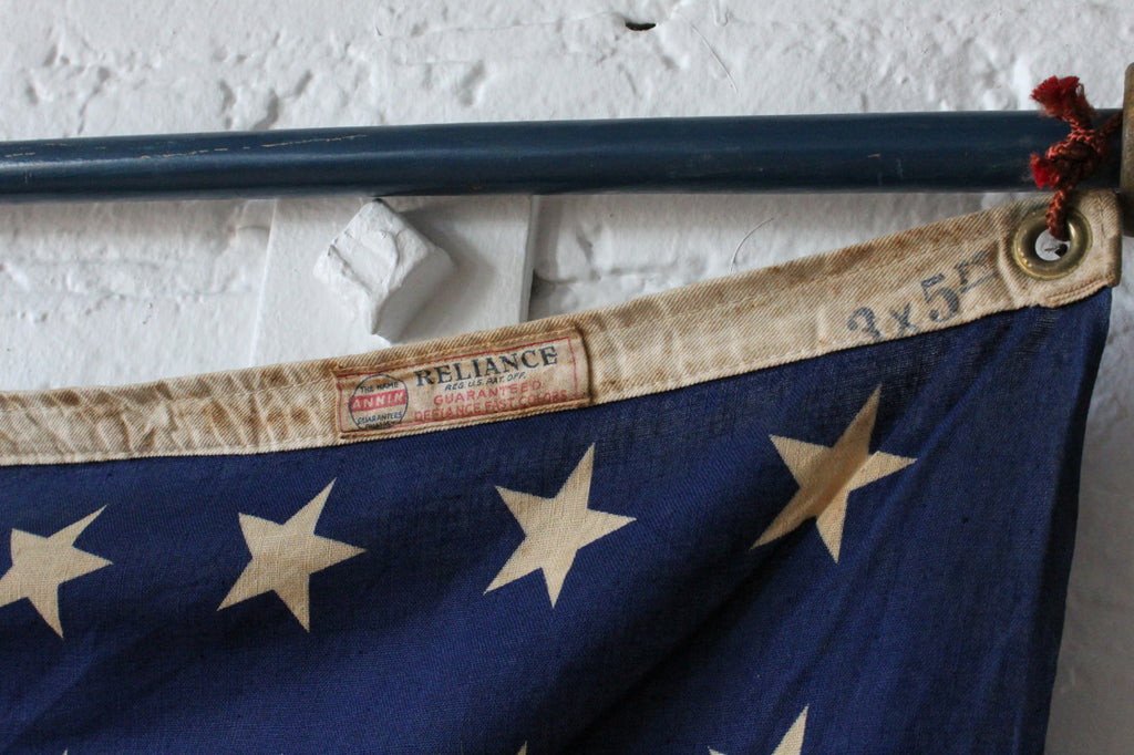 48 Star American Flag with 6ft Wooden Pole