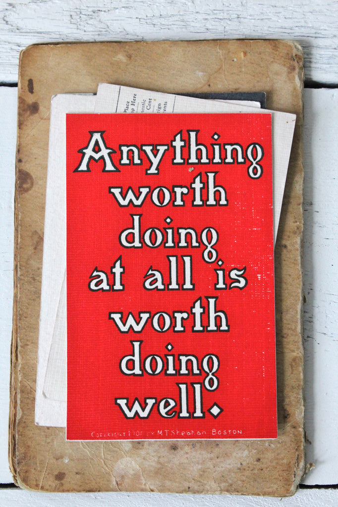 Early 1900's Sheahan's Good Mottos Postcard