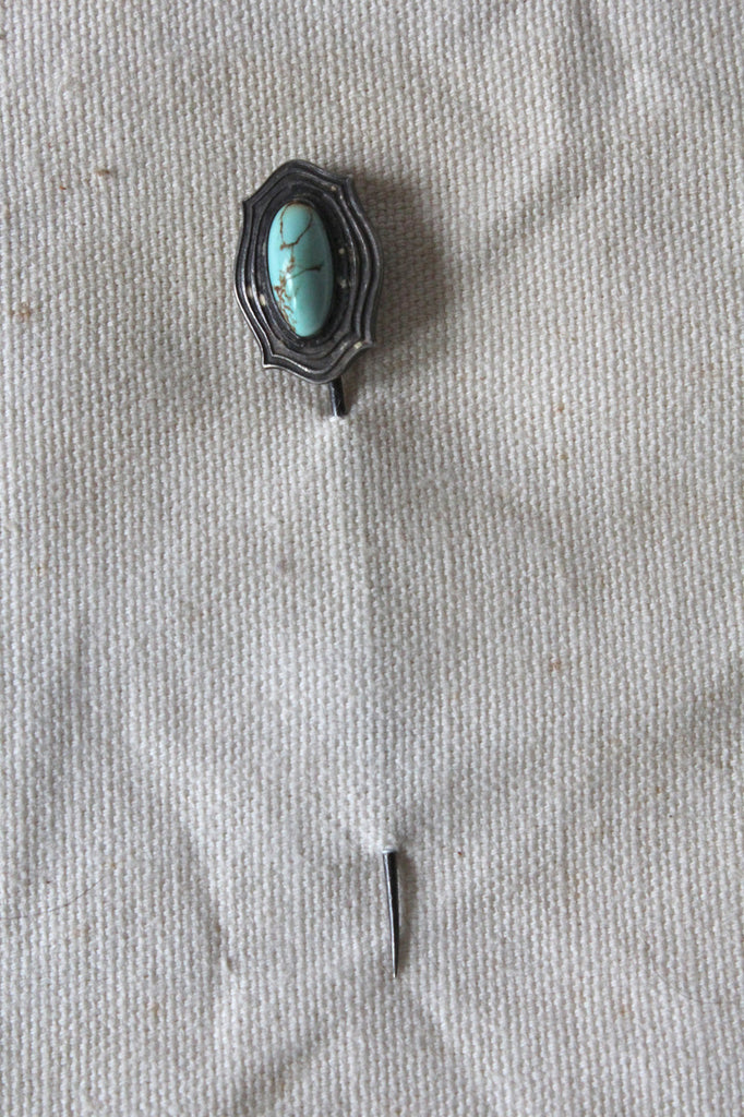 Turn of the Century Turquoise Stickpin