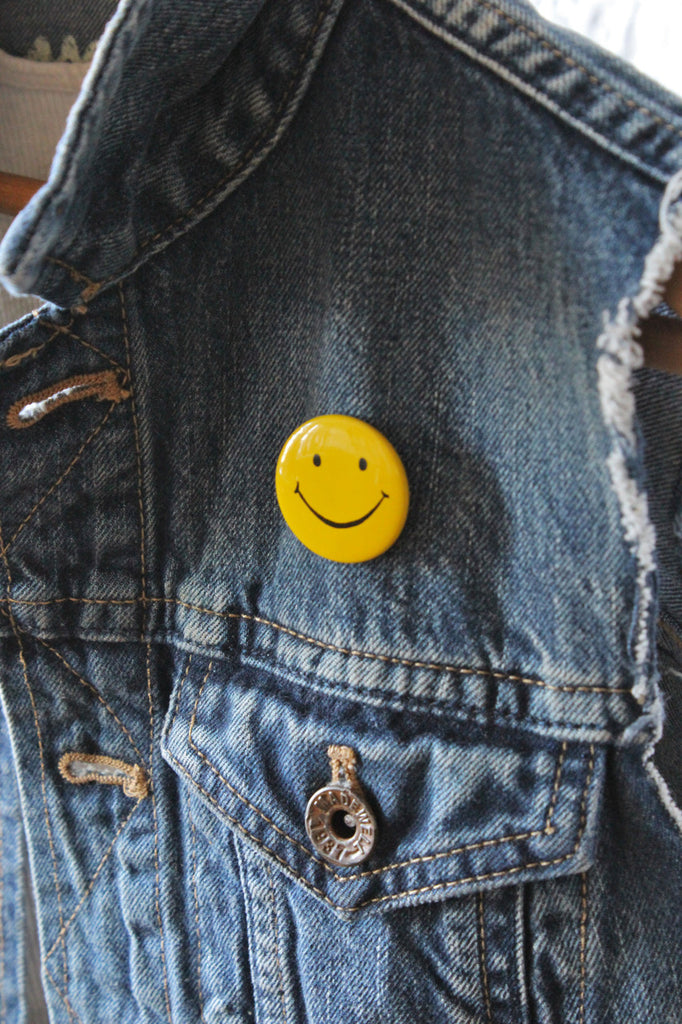 1970's Smiley Face Button