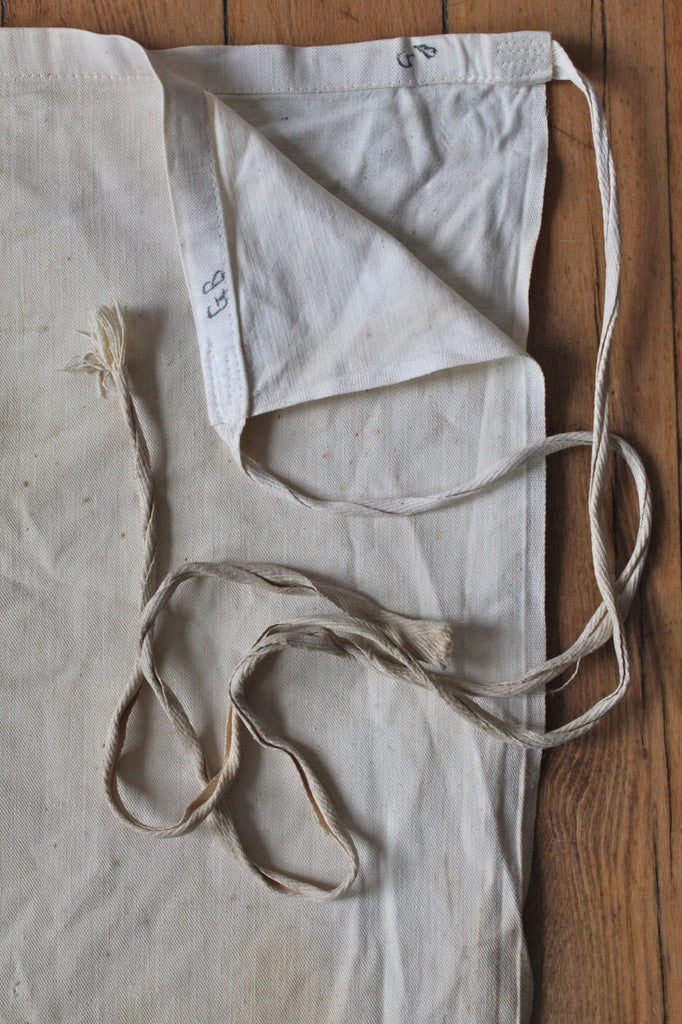 Early 1900's era Walton's Lunch Co. Chef's Waist Apron