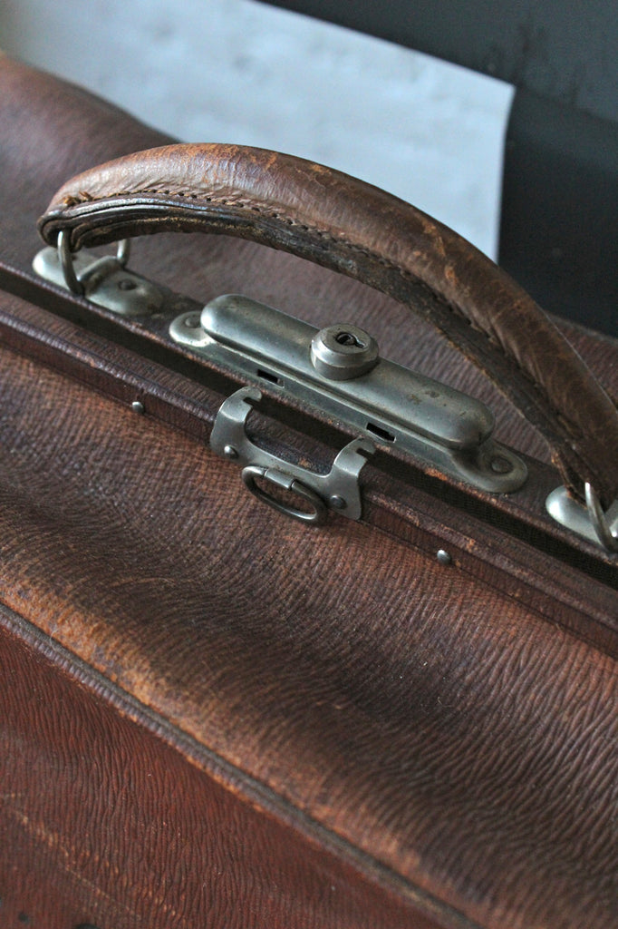 Monogrammed Leather Suitcase