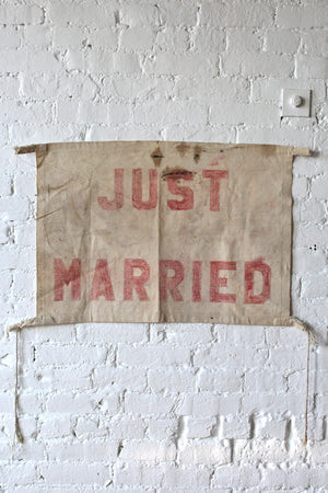 1940's era 'Just Married' Banner