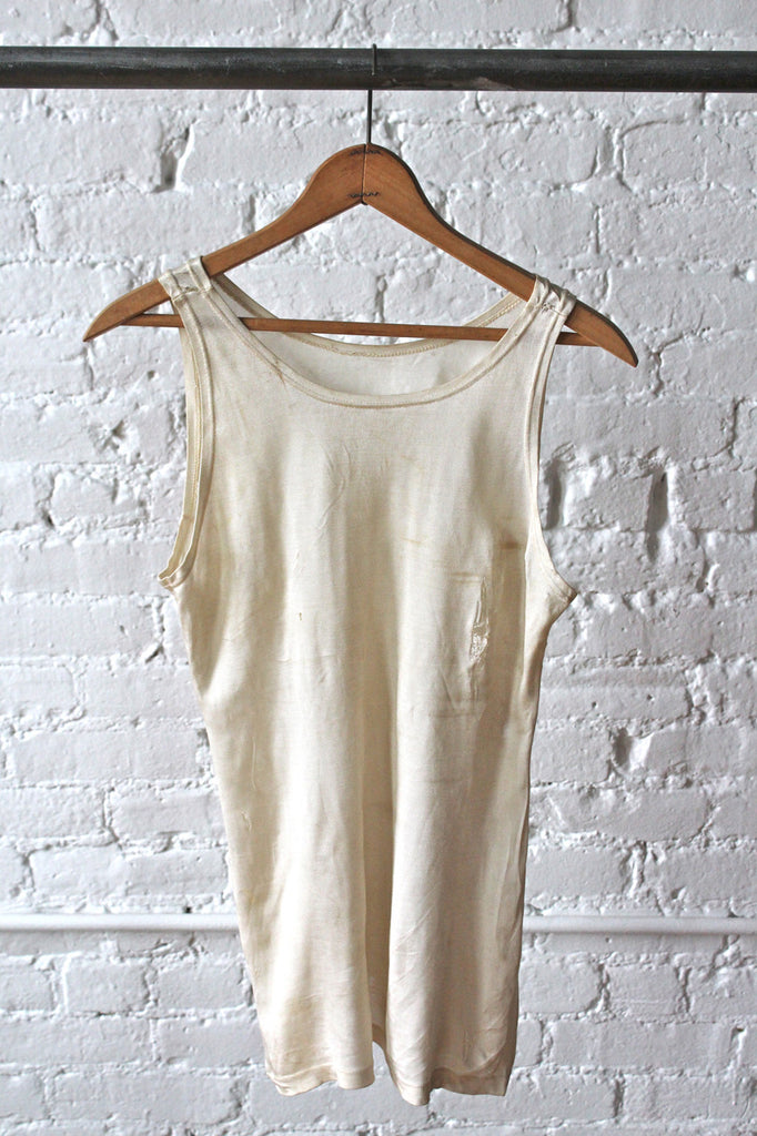 1940s era White Rayon Undershirt