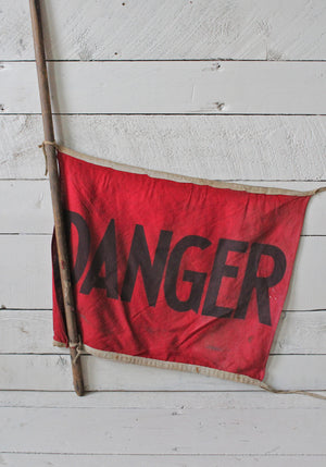 1920s-30s DANGER Flag