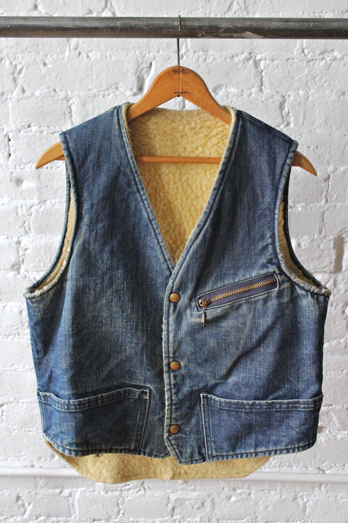 Carter's Shearling Lined Denim Vest