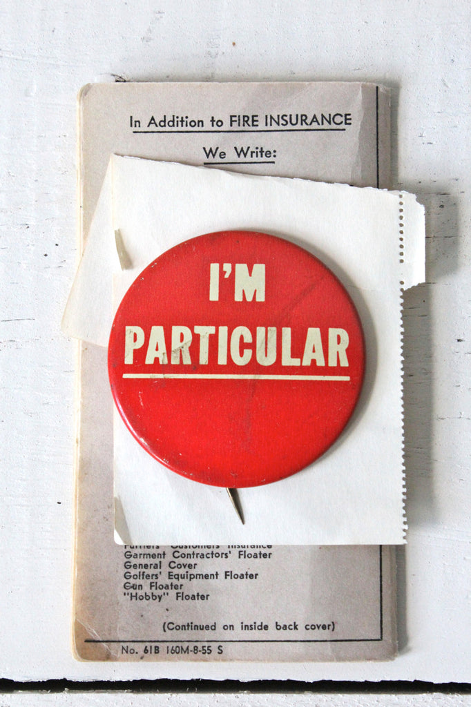1970's I'm Particular Button