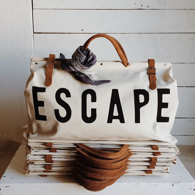Shop our ESCAPE Canvas Utility Bag line