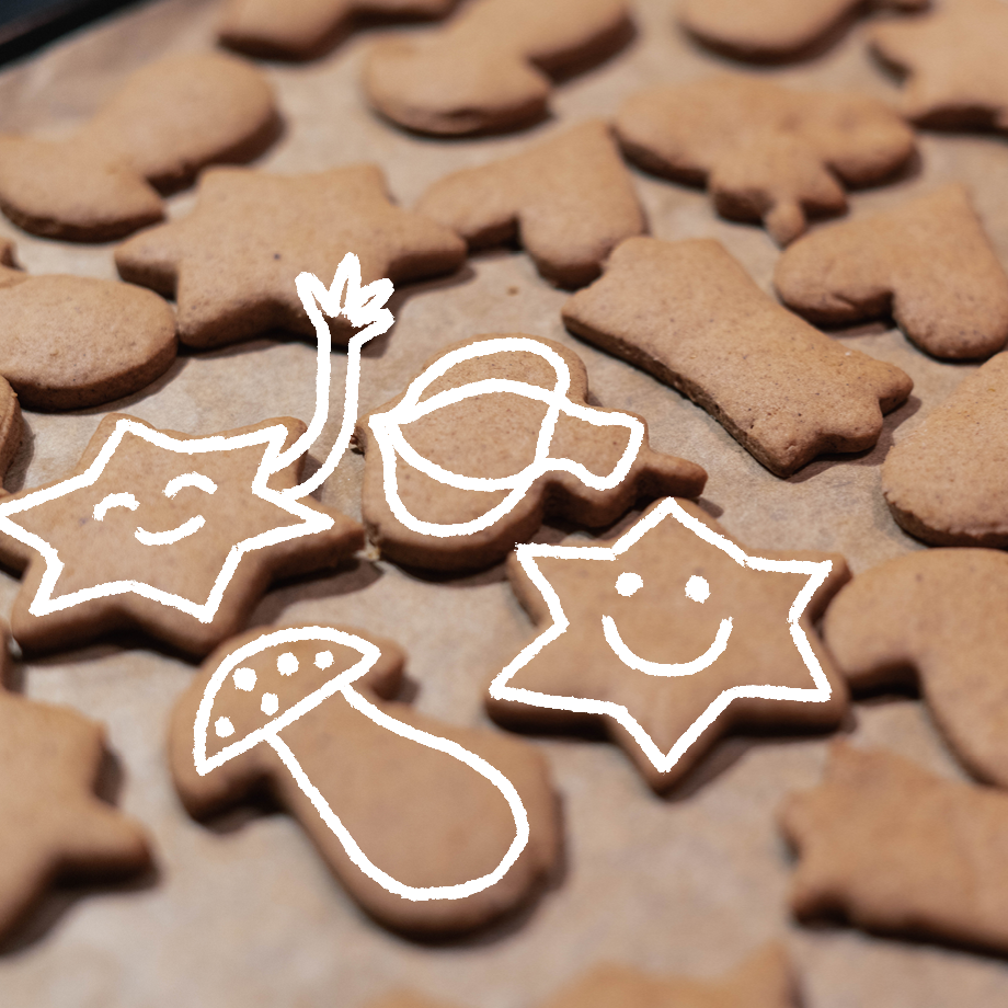 HOLIDAY CRAFTS WITH YKRA KIDS - Supersoft gingerbread cookies