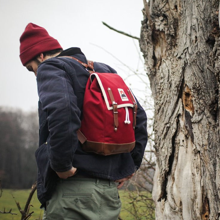 MATRA MINI LS - BORDEAUX Canvas Backpack - YKRA