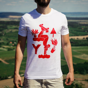 "Marcin Kolejko T-shirt designed for YKRA : ""HAND STAND"" limited edition YKRA T-shirt. Made from 100% cotton fabric in Hungary."