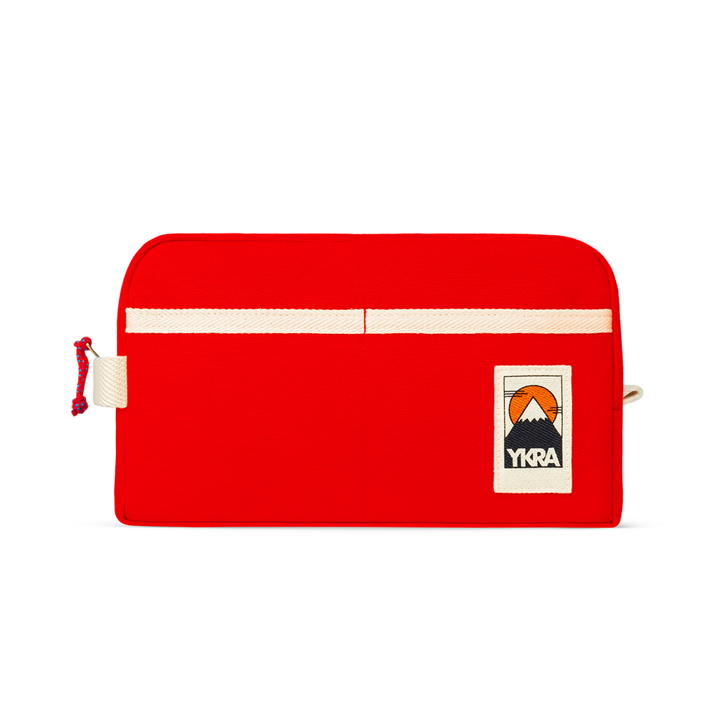YKRA DOPP PACK - RED Canvas Toiletry Bag - YKRA