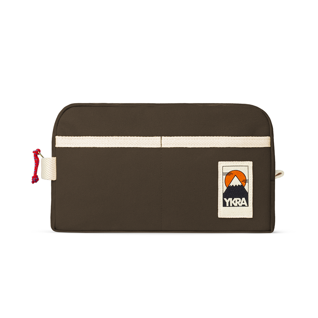 YKRA DOPP PACK - KHAKI Canvas Toiletry Bag - YKRA