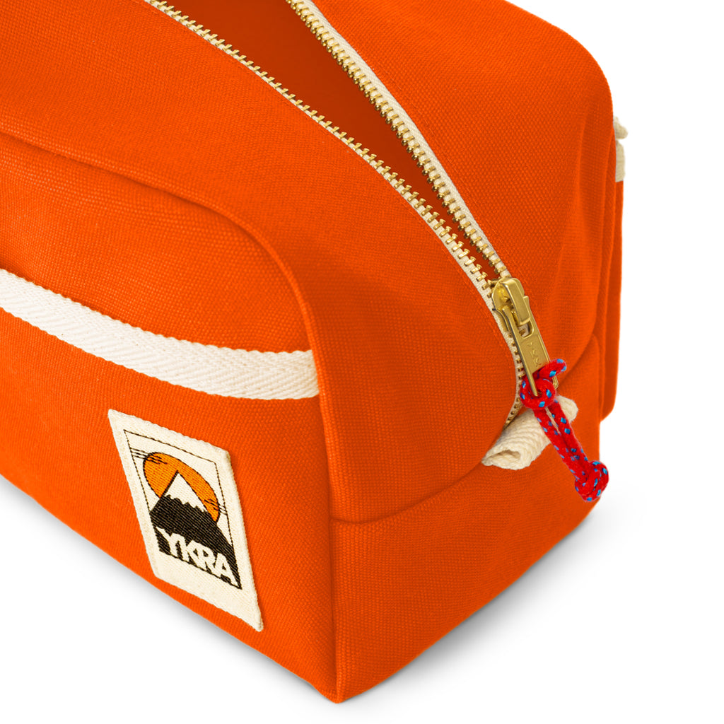 YKRA DOPP PACK - ORANGE Canvas Toiletry Bag - YKRA