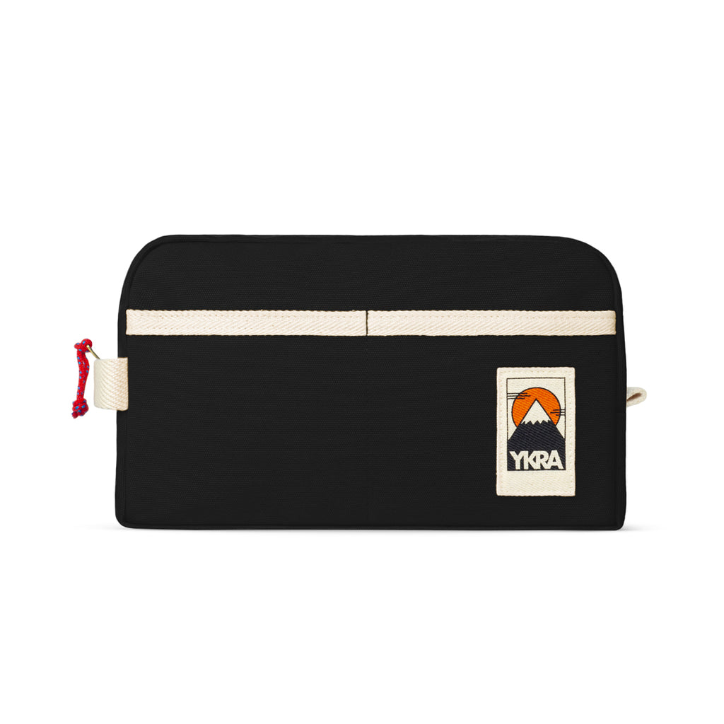 YKRA DOPP PACK - BLACK Canvas Toiletry Bag - YKRA