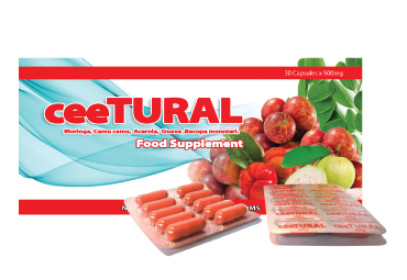 ceeTURAL - The ULTIMATE NATURAL Vitamin C  (30 Capsules)