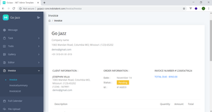 GoJazz Template in ASP.NET Core 5.x.x MVC
