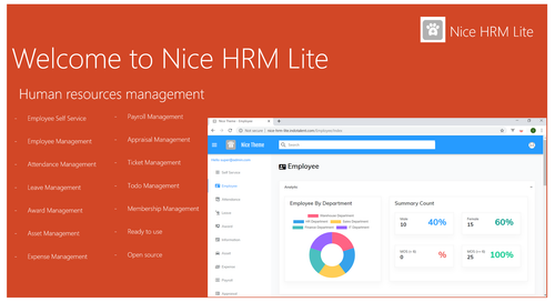 Open Source - Nice HRM Lite - ASP.NET CORE 2.2