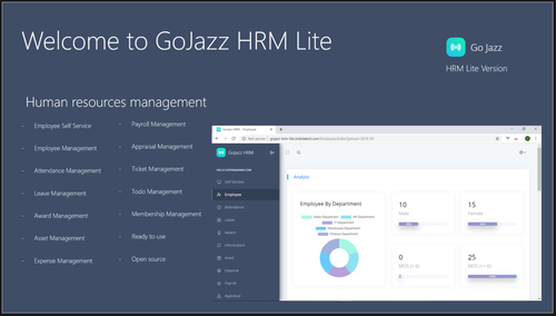 Open Source - GoJazz HRM Lite - ASP.NET CORE 2.2