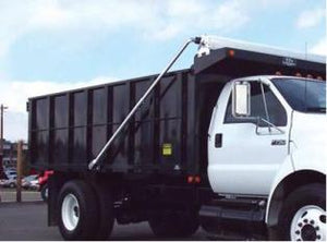 4 Spring Polished Aluminum Manual Dump Truck Tarp System - Bed Length up to 24'