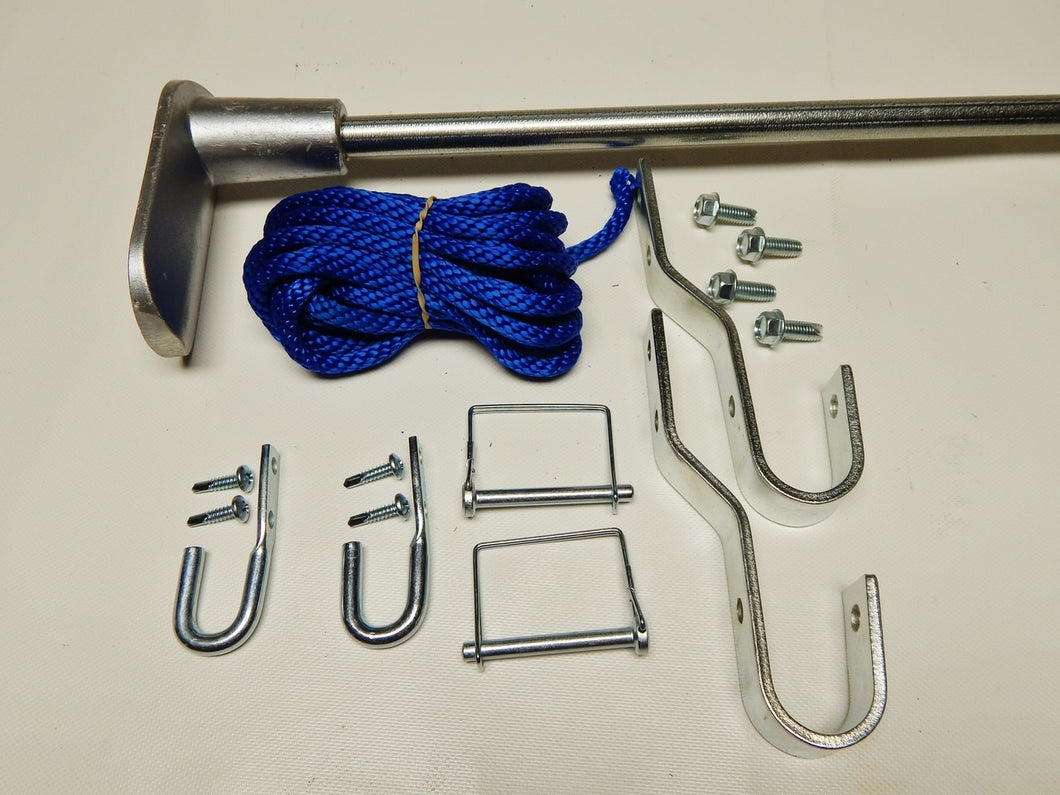 Anti-Sail Steel Pull Bar Assembly with Retainers, Guides and Hardware