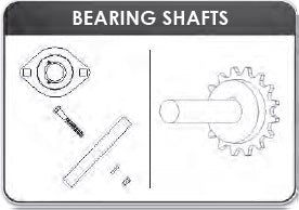 Mountain | K0105C Complete Stub Shaft, Sprocket, & Bearing Assembly