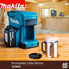 Load image into Gallery viewer, Japan Makita Cordless coffee maker DCM501 Rechargeable coffee machine 18V outdoor Easy to carry Working coffee machine 12V 250ml
