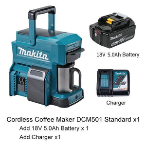 Japan Makita Cordless coffee maker DCM501 Rechargeable coffee machine 18V outdoor Easy to carry Working coffee machine 12V 250ml