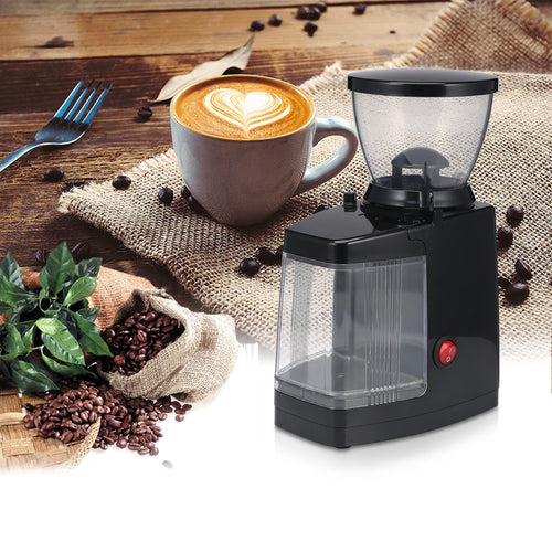 75W Electric Coffee Grinder Coffee Mill Machine Coffee Bean Grinder Machine Flat Burrs Grinding Machine