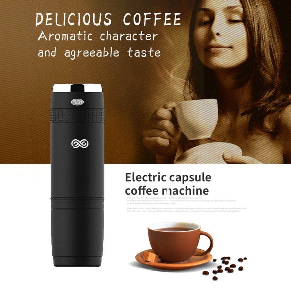 Protable Electric Manual Capsule Coffee Machine Reusable Hand Pressure Capsules Espresso Coffee Maker For Travel Camping