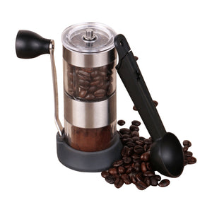 Manual Coffee Grinder Washable Ceramic Core Kitchen Mini Hand Coffee Mill Household Coffee Grinding Machine with a coffee spoon