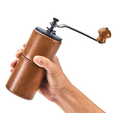 Load image into Gallery viewer, Manual Coffee Grinder Wooden Home Kitchen Mini Hand Coffee Mill Household tool Coffee Grinding Machine with a cleaning brush