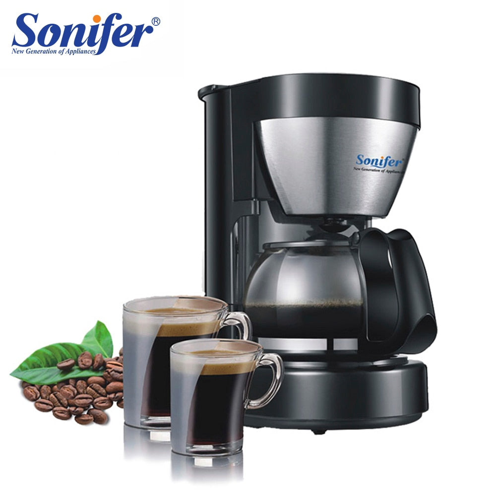 0.65L Electric Drip Coffee Maker household coffee machine 6 cup tea coffee pot 220V Sonifer