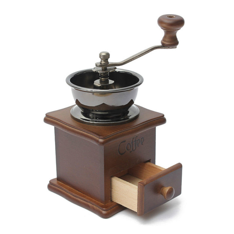 Coffee Grinder Machine Moledor Grinding Coffee Mill Manual Molinillo De Cafe Antique Hand  Bean Grinder Wood machine