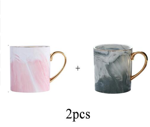 Lekoch European Marble Grain Phnom Penh mugs Couple Lover's Gift Morning Mug Milk Coffee Tea Breakfast Porcelain Cup for gifts