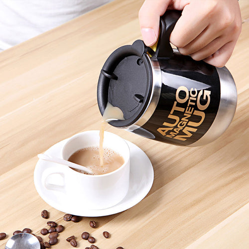 Tazas Self Stirring Mug Milk Mixing Mug Stainless Steel Magnetic Automatic Electric Lazy Smart Coffee Cup Anti-scalding Cover