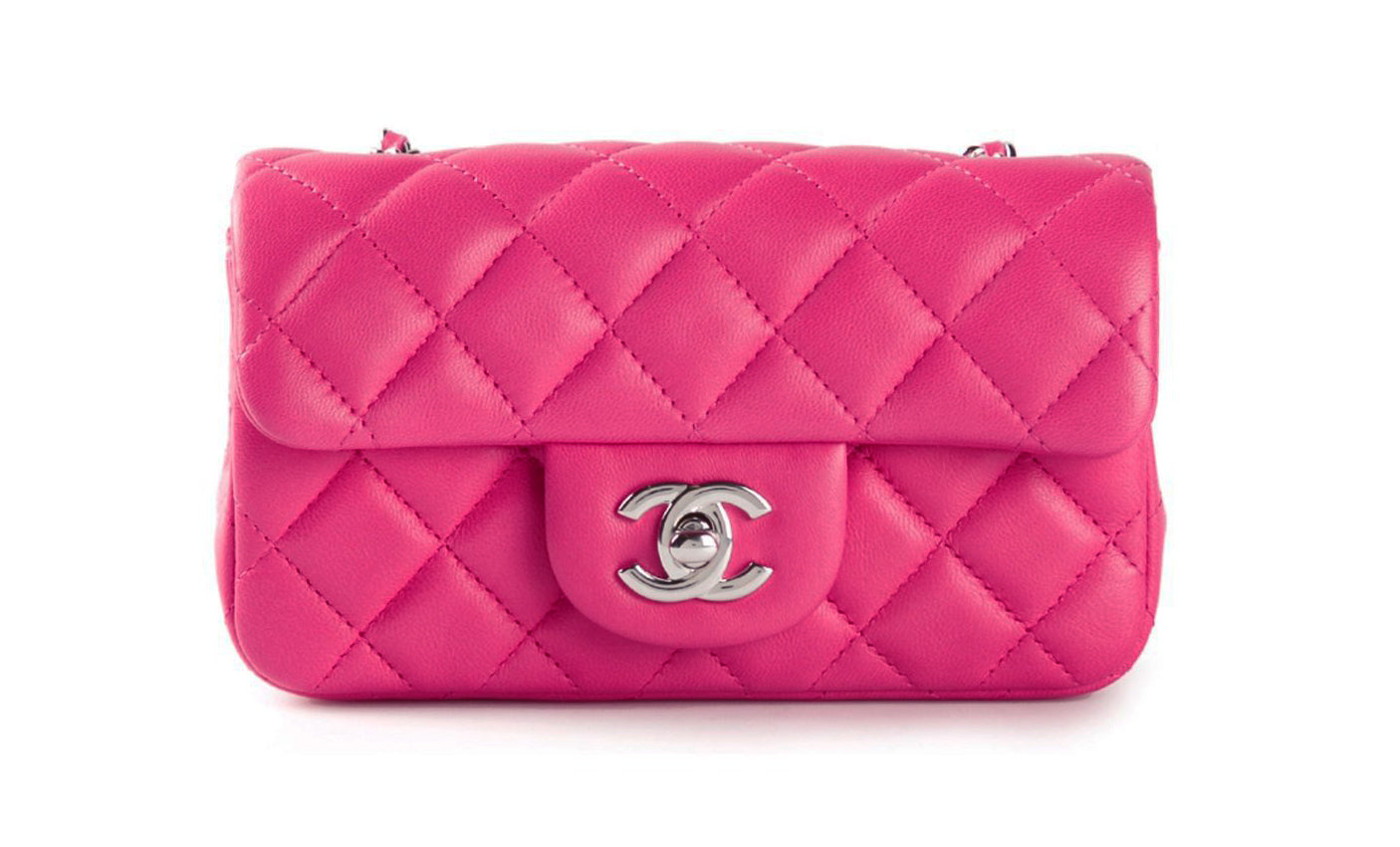 3311b0391c6d6 Chanel Rectangular Mini Pink Bag – GlamHub