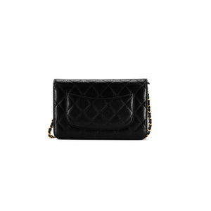 Chanel WOC in Black Caviar Back View