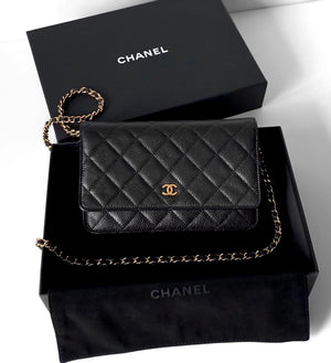 Chanel WOC in Black Caviar in Box