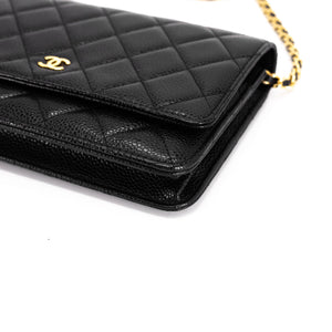 Chanel WOC in Black Caviar Top View