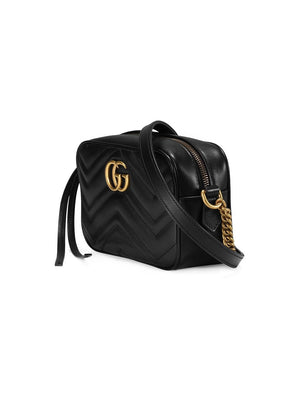 Gucci GG Marmont Mini Black Shoulder Bag Side View