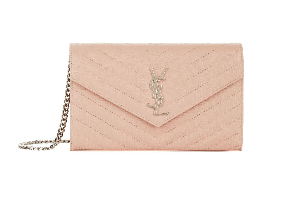 5e43e627dfa33 Saint Laurent Monogram Blush Chain Wallet