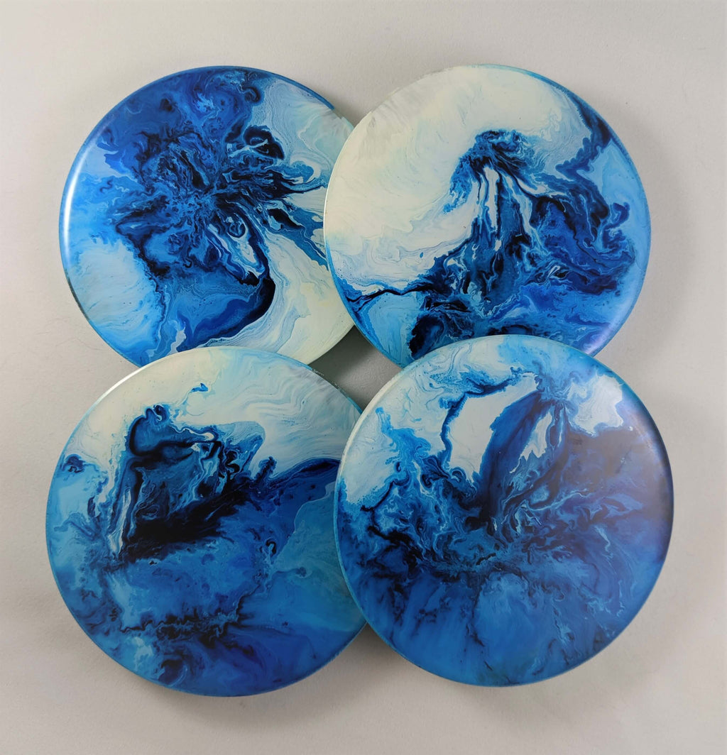 Ocean Style Resin Coaster - SET OF 4