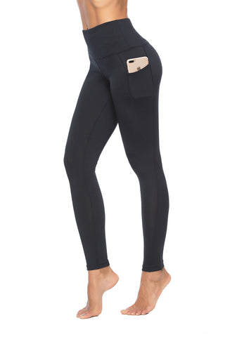 High-Waist Pocketed Yoga Leggings - YogaMed Yoga Meditation Gear and Supplies