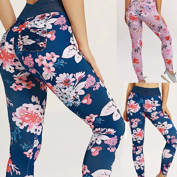 Floral Yoga Leggings - YogaMed Yoga Meditation Gear and Supplies