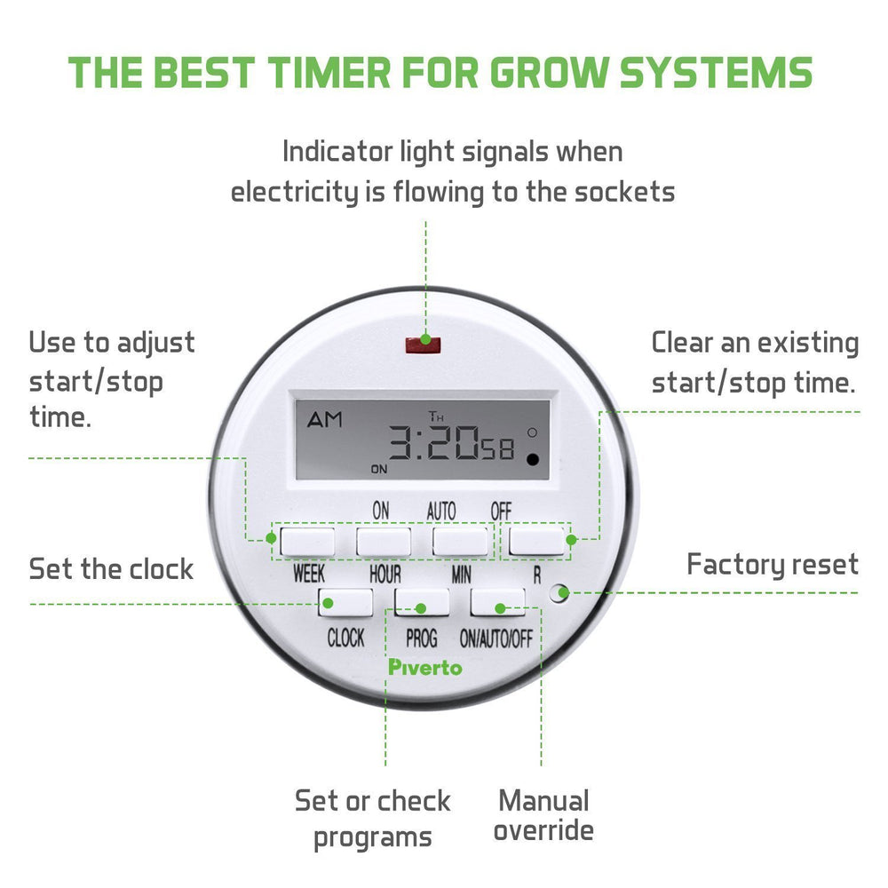 7 Days Digital Program Timer - pivertoindoorgrowing