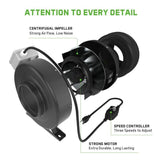 "6"" In-line Fan with Variable Fan Speed Controller & Filter - pivertoindoorgrowing"