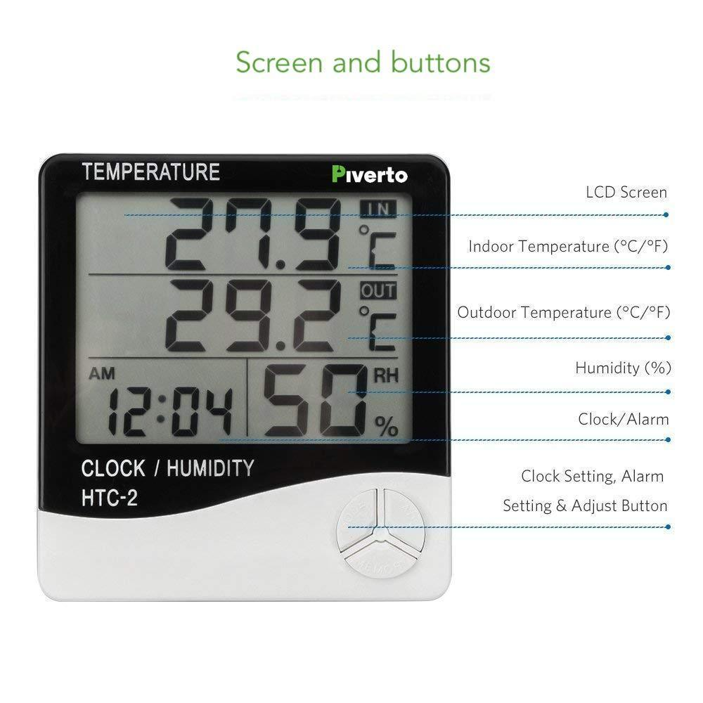 Digital Thermo/Hygro Meter - pivertoindoorgrowing