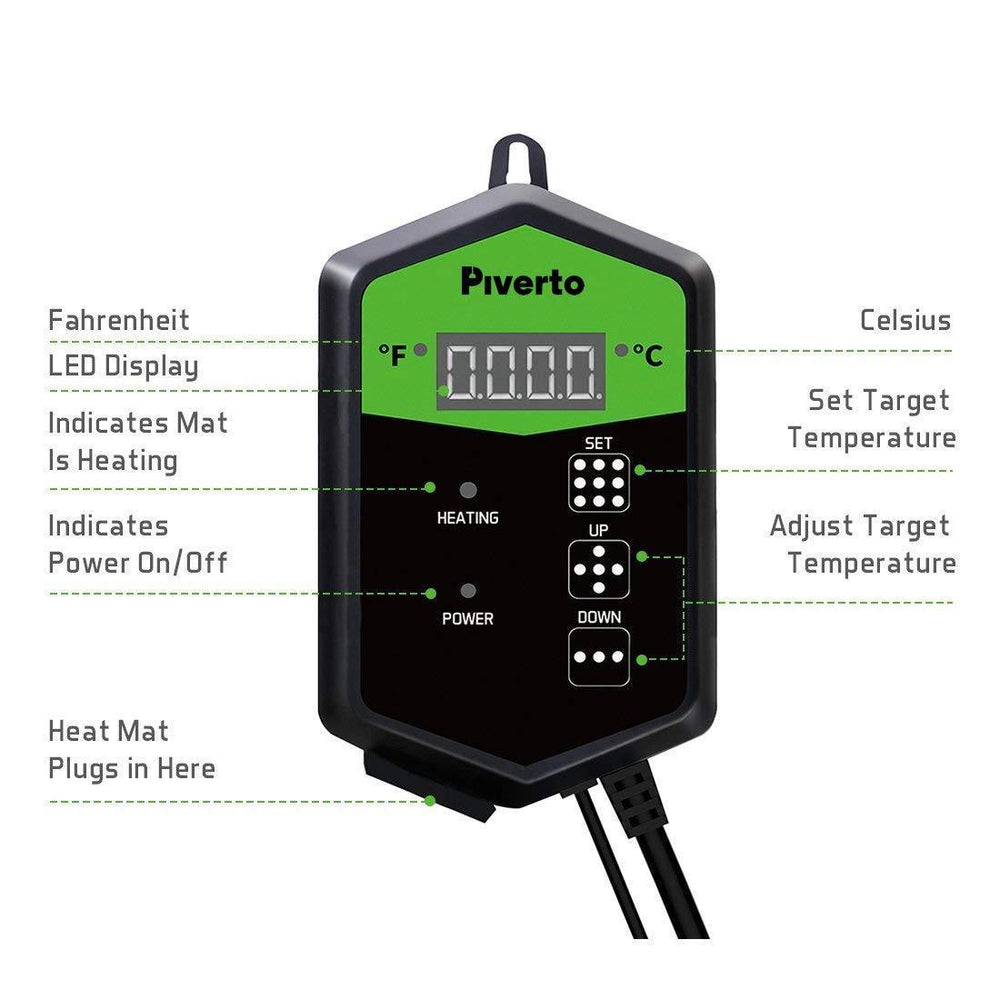 Heat Mat Thermostat Controller - pivertoindoorgrowing